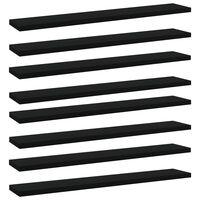 """vidaXL Bookshelf Boards 8 pcs Black 23.6""""x3.9""""x0.6"""" Chipboard"""