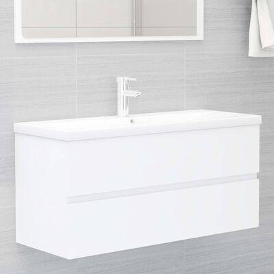 vidaXL 2 Piece Bathroom Furniture Set White Chipboard