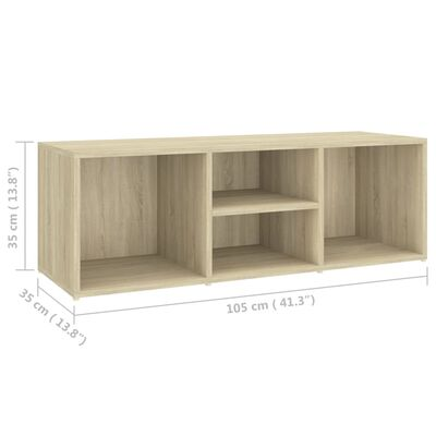 "vidaXL Shoe Storage Bench Sonoma Oak 41.3""x41.3""x13.8"" Chipboard"
