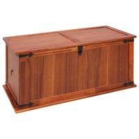 "vidaXL Storage Chest 31.1""x13.4""x12.6"" Solid Acacia Wood"