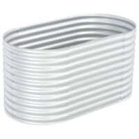 """vidaXL Garden Raised Bed 62.9""""x31.4""""x31.8"""" galvanized Steel Silver"""