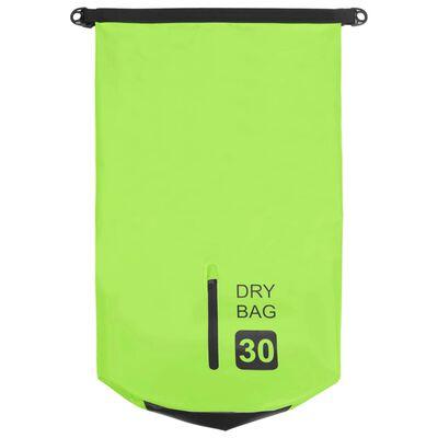 vidaXL Dry Bag with Zipper Green 7.9 gal PVC
