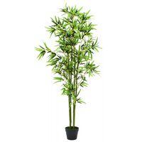 "vidaXL Artificial Bamboo Plant with Pot 68.9"" Green"