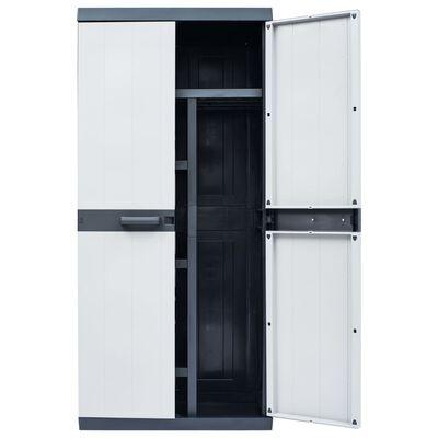 "vidaXL Garden Storage Cabinet XXL 35""x21.3""x74.8"" Plastic"