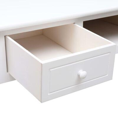 "vidaXL Writing Desk White 43.3""x17.7""x29.9"" Wood"