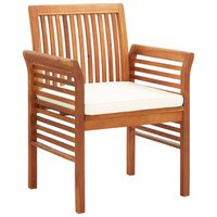 vidaXL Garden Dining Chair with Cushion Solid Acacia Wood