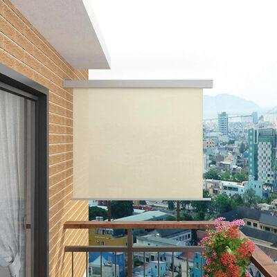 "vidaXL Balcony Side Awning Multi-functional 56""x78.7"" Cream"