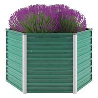 "vidaXL Garden Raised Bed Galvanized Steel 50.8""x50.8""x31.3"" Green"