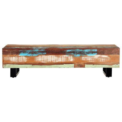 "vidaXL Coffee Table 47.2""x19.7""x11.8"" Solid Reclaimed Wood and Steel"