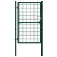 """vidaXL Fence Gate Steel 39.4""""x59.1"""" Green"""