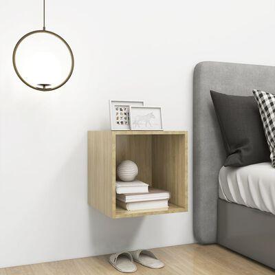 "vidaXL Wall Cabinet Sonoma Oak 14.6""x14.6""x14.6"" Chipboard"