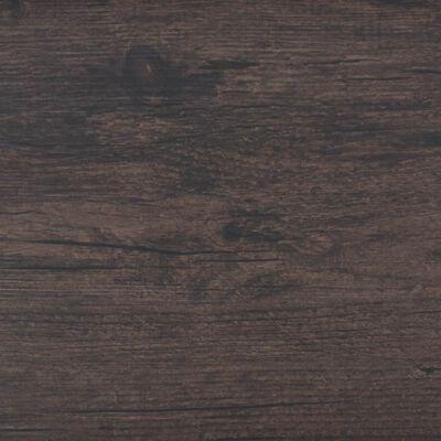"""vidaXL Self-adhesive PVC Flooring Planks 54 ft² 0.08"""" Dark Brown"""