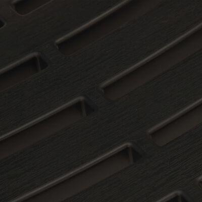 vidaXL 3 Piece Folding Bistro Set Plastic Gray