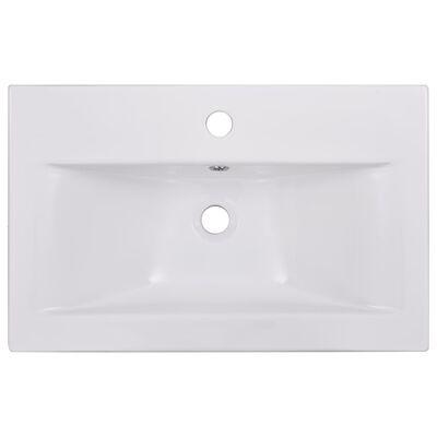 """vidaXL Built-in Basin 24""""x15.6""""x7.3"""" Ceramic White"""