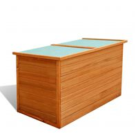 "vidaXL Garden Storage Box 49.6""x28.3""x28.3"" Wood"