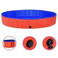 "vidaXL Foldable Dog Swimming Pool Red 78.7""x11.8"" PVC"