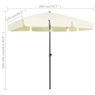 "vidaXL Beach Umbrella Sand Yellow 78.7""x49.2"""