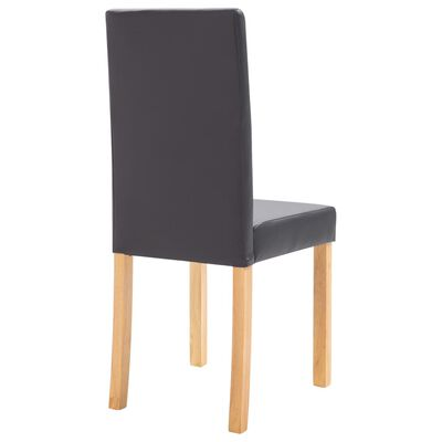 vidaXL Dining Chairs 2 pcs Gray Faux Leather