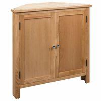 """vidaXL Corner Cabinet 31.4""""x13.1""""x30.7"""" Solid Oak Wood"""