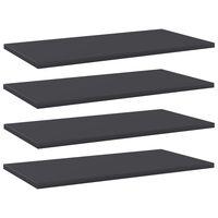 """vidaXL Bookshelf Boards 4 pcs Gray 23.6""""x11.8""""x0.6"""" Chipboard"""