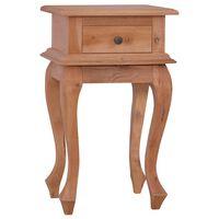"vidaXL Bedside Table 13.8""x11.8""x23.6"" Solid Mahogany Wood"