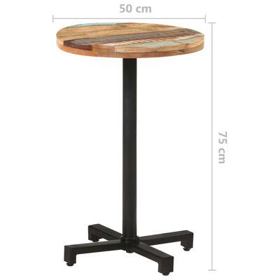 "vidaXL Bistro Table Round Ø19.7""x29.5"" Solid Reclaimed Wood"