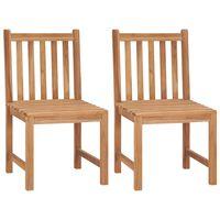 vidaXL Garden Chairs 2 pcs Solid Teak Wood