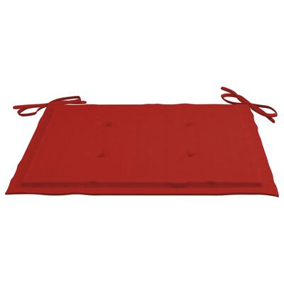 "vidaXL Garden Chair Cushions 6 pcs Red 19.7""x19.7""x1.6"" Fabric"