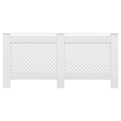 "vidaXL Radiator Covers 2 pcs White 67.7""x7.5""x32.1"" MDF"