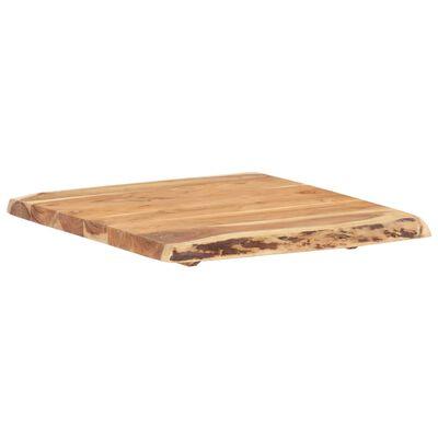 """vidaXL Table Top Solid Acacia Wood 23.6""""x(19.7""""-23.6"""")x1.5"""""""