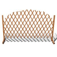 "vidaXL Trellis Fence Solid Wood 5' 11"" x 3' 3"""