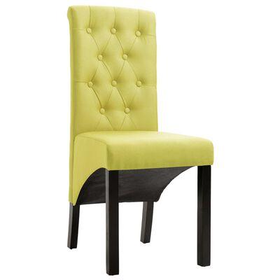 vidaXL Dining Chairs 2 pcs Green Fabric