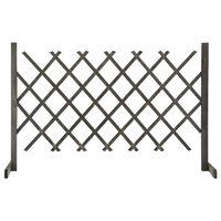 "vidaXL Garden Trellis Fence Gray 47.2""x35.4"" Solid Firwood"