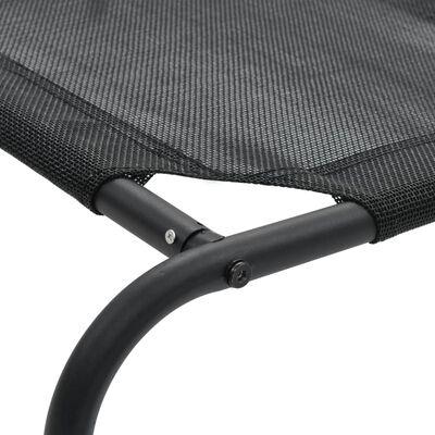 vidaXL Elevated Dog Bed Black XL Textilene