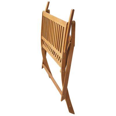 "vidaXL Garden Bench with Cushion 47.2"" Solid Acacia Wood"