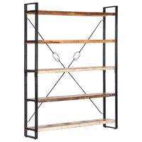 "vidaXL 5-Tier Bookcase 55.1""x11.8""x70.9"" Solid Reclaimed Wood"