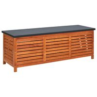 "vidaXL Garden Storage Box 59.1""x19.7""x21.7"" Solid Eucalyptus Wood"