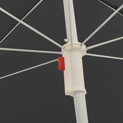 """vidaXL Outdoor Parasol with Steel Pole Anthracite 70.9"""""""