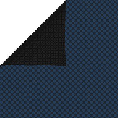 "vidaXL Floating PE Solar Pool Film 102.4""x63"" Black and Blue"
