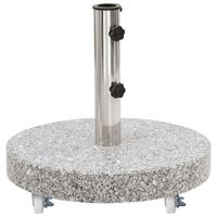 vidaXL Parasol Base Granite 66.1 lb Round Gray