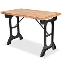 "vidaXL Dining Table Solid Fir Wood Top 48""x25.6""x32.3"""