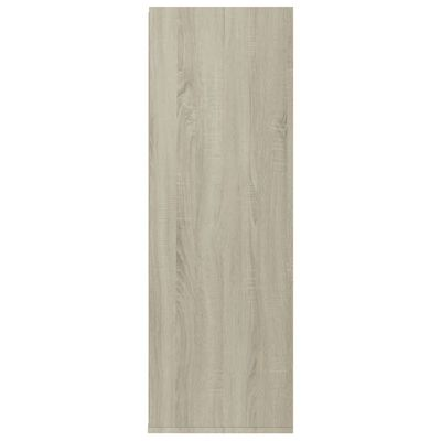 "vidaXL Shoe Rack White and Sonoma Oak 21.5""x13.3""x39.3"" Chipboard"