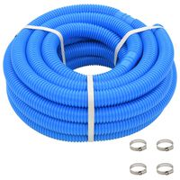 """vidaXL Pool Hose with Clamps Blue 1.4"""" 39.3'"""