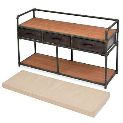 """vidaXL Storage Bench with Cushion 42.3""""x13.6""""x23.2"""""""