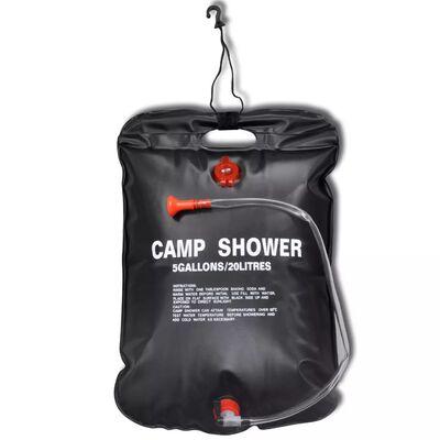Camp Shower Solar Shower Outdoor Bath 5 gal lqd 2 pcs
