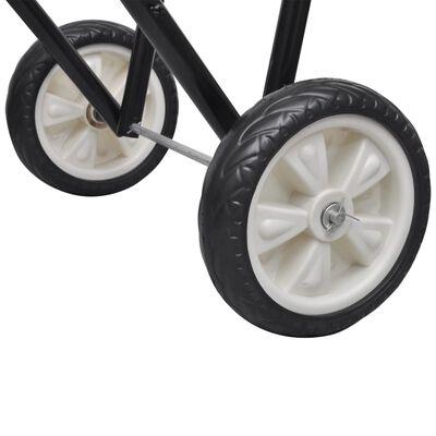 Metal Foldable Saddle Rack with Wheels