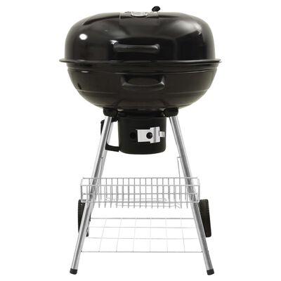 """vidaXL Kettle Charcoal BBQ Grill 28.7""""x22.8""""x37.8"""" Steel"""