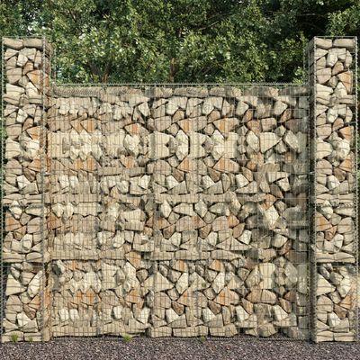 "vidaXL Gabion Wall with Cover Galvanised Steel 236.2""x19.7""x78.7"""