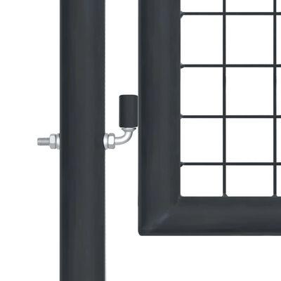 """vidaXL Mesh Garden Gate Galvanised Steel 39.4""""x78.7"""" Gray"""
