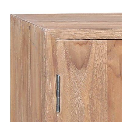 "vidaXL Side Cabinet 55.1""x11.8""x29.5"" Solid Teak"